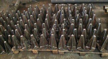 Конические наконечники к забивным сваям Изготовлены из листового металла